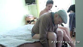Lustful brunette shoots hot milky tits
