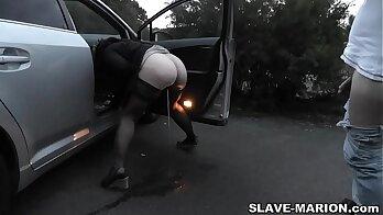 My pee slut Leanne Marie loves to fuck older guys using her little toes