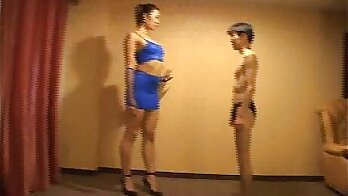 Japanese wrestling champion Valentina is being rehashed by a lucky guy