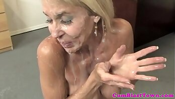 Busty granny likes some big young dick