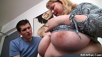 Big titted Brandy riding fat cock on the couch POV