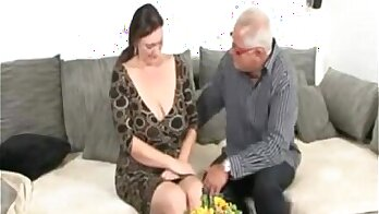 BBW tall bitch with well shaped tits has a fuck session with Nerdy German dude