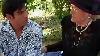 Granny seduces her young boy lover