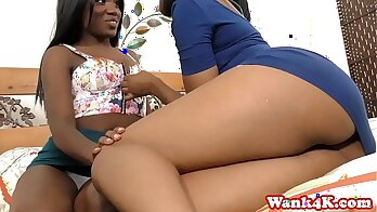 Black Lesbian Love Action with vintage c
