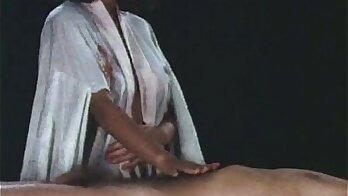 chinese masseuse gives massage