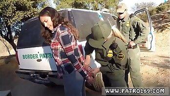 police beat up fellows Amateur Threesome for Border Slut