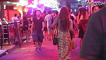 Chunky Thai ladyboy gets audivating screwed in MMF