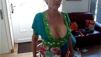 Naughty mature wife fucking cow