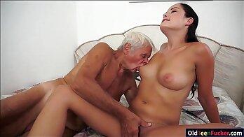 Grandpa strap on cock for daughter