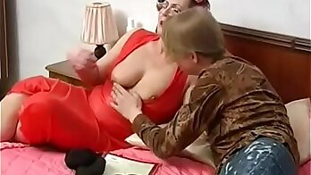 Mom Seduces Son with Best Friends
