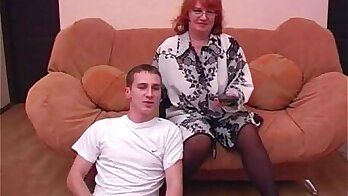 Russian Stepmom Feeds Her Younger Son Soon