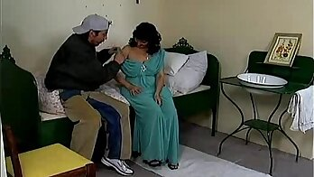 Crazy mom wanks and licks cock with a strapon