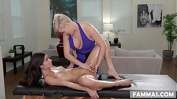 Desi step daughter gives great massage with Liaka Rivera