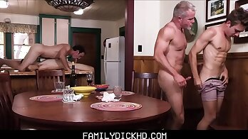 Brandon producers son watches step dad time and barebacks in family room