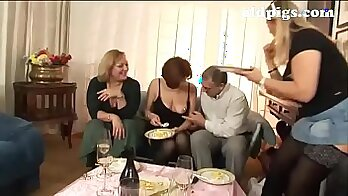 College sluts suck and fuck in group orgy