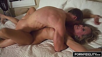 Blonde Milf Toying With Creampie