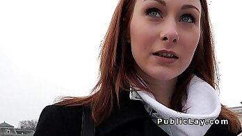 russian redhead masturbating in pov