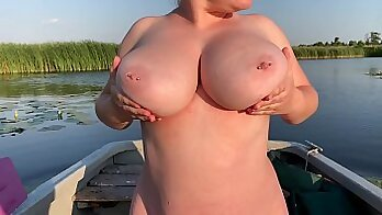 Appetizing young woman with nice boobs teaches you a simple thing