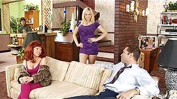 Absolutely gorgeous redhead milf gets taken as a tape record