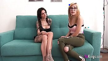 Busty stepdaughter wanks in her favorite chair publicly
