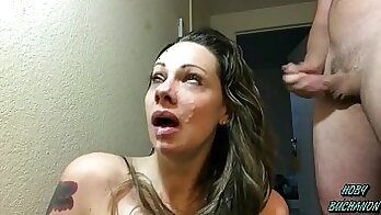Cumshots while watching porn Dirty sluts get disgraced by dads