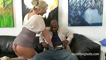 Cougar Sue Georgia Opens Her Mouth For Black Cock