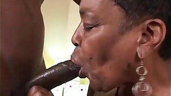 Granny watch big black cock on dick...all my cum