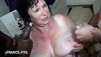 French amateur granny first blowjob