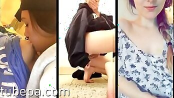 Compilation of Lesbian Girls Playing Homemade