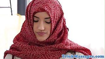 Arab girl gets fucked on massage table