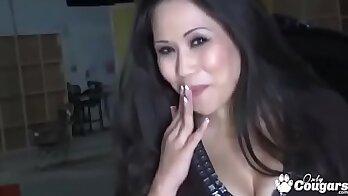 Hot Brazilian MILF With enormous Asian Tits enjoys cock as a pillowcore
