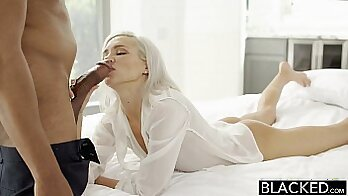 blond girlfriend serviced by a bbc in the parking lot